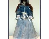 Linda  Handmade Victorian Faceless Lady Art Doll