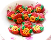 6pcs Mediterrenian Rustic Style - Flower Peg Charms - GBSY06