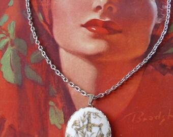 Vintage Libra Pendant Necklace