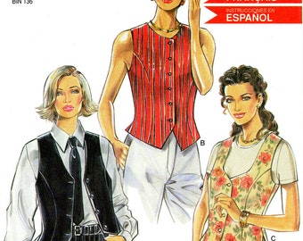 New Look 6576 Vest Tops Size 6 8 10 12 14 16 Uncut Sewing Pattern
