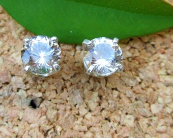 Tan Topaz Earrings in Gold, Silver, Platinum with Genuine Gems, 5mm Lot 12 - Free Gift Wrapping