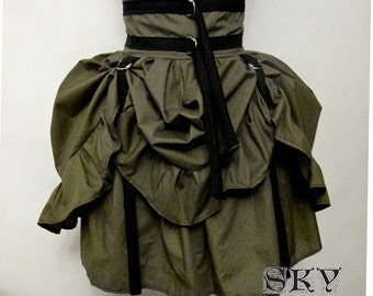 Army Green D-Ring Skirt