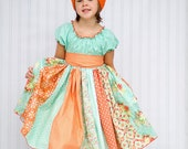 Tropical Punch Peasant Dress