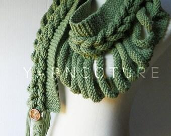 Rapunzel's LADDER - Fiber Art Scarf / Braided Scarf / High Fashion, Rapunzel Scarf, Cable look scarf