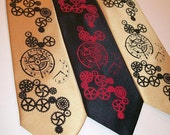 Steampunk mens necktie available in over 50 different necktie colors