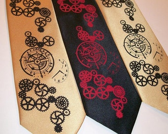 RokGear Neckties - Steampunk mens necktie available in over 50 different necktie colors