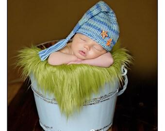 Newborn Baby Hat, Newborn Photo Prop, Knit Baby Hat, Newborn Knit Hat, Blue Hat, Baby Boy hatPhotography prop