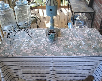 "Buffet Tablecloth (57"" X 75"") & Table Runner/Topper (48"" X 20"") - Textured Teal - Parties - weddings - Item #T0101"