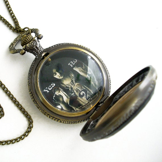Gypsy Fortunes - Hand Held Dexterity Game in Pocket Watch case - Jewelry Necklace Pendant