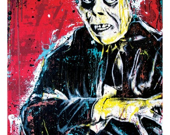 Phantom of the Opera Lon Chaney Horror Movie  Art Print Poster 12 x 18