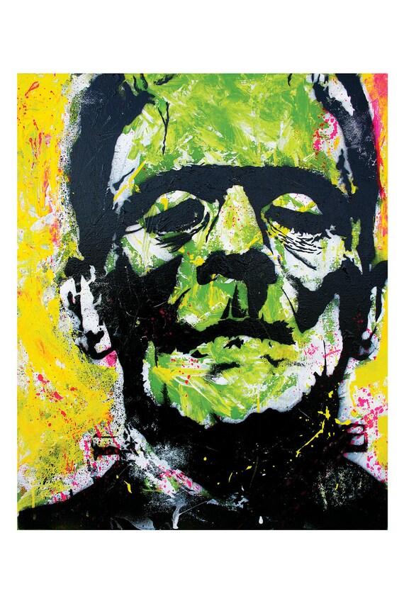 Frankenstein's Monster  - 12 x 18 High Quality Print