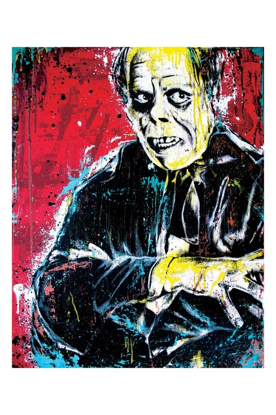Phantom of the Opera Lon Chaney Horror Movie  Art Print Poster 12 x 18