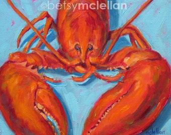 Lobster - Lobster Art - Paper - Canvas - Wood Block - Giclee Print