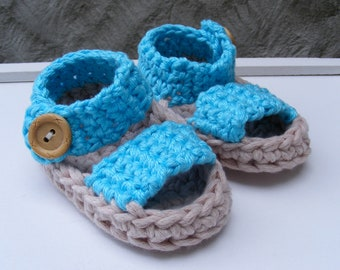 Sandals Crochet Pattern - Summer Baby Booties - Quick and Easy Pattern in 3 Sizes - 0 - 12 Months