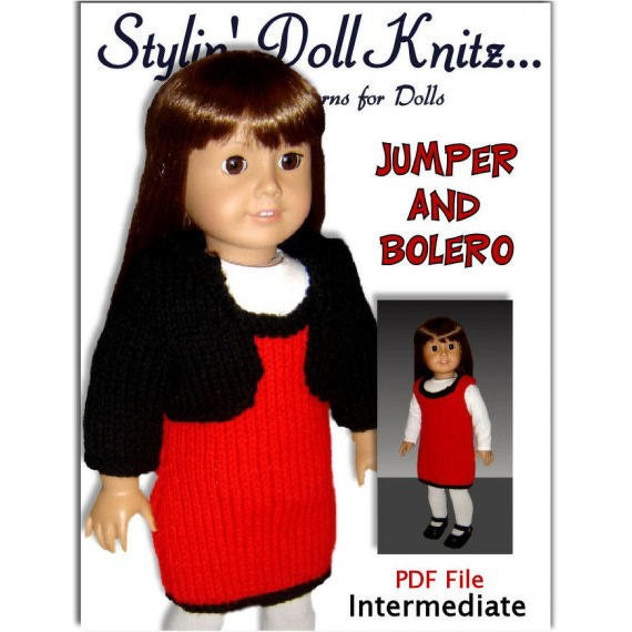Knitting Pattern, Doll Clothes, Fits American Girl Doll,18 inch dolls. PDF Instant Download 017