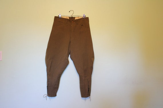 40s olive green jodhpurs equestrian riding pants