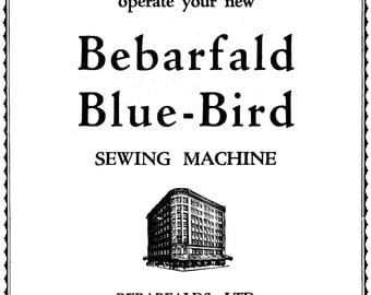 Bebarfald Blue-Bird (1929 VS) Instruction Book
