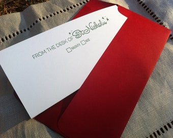 Official Santa Letterhead and Sticker Seal