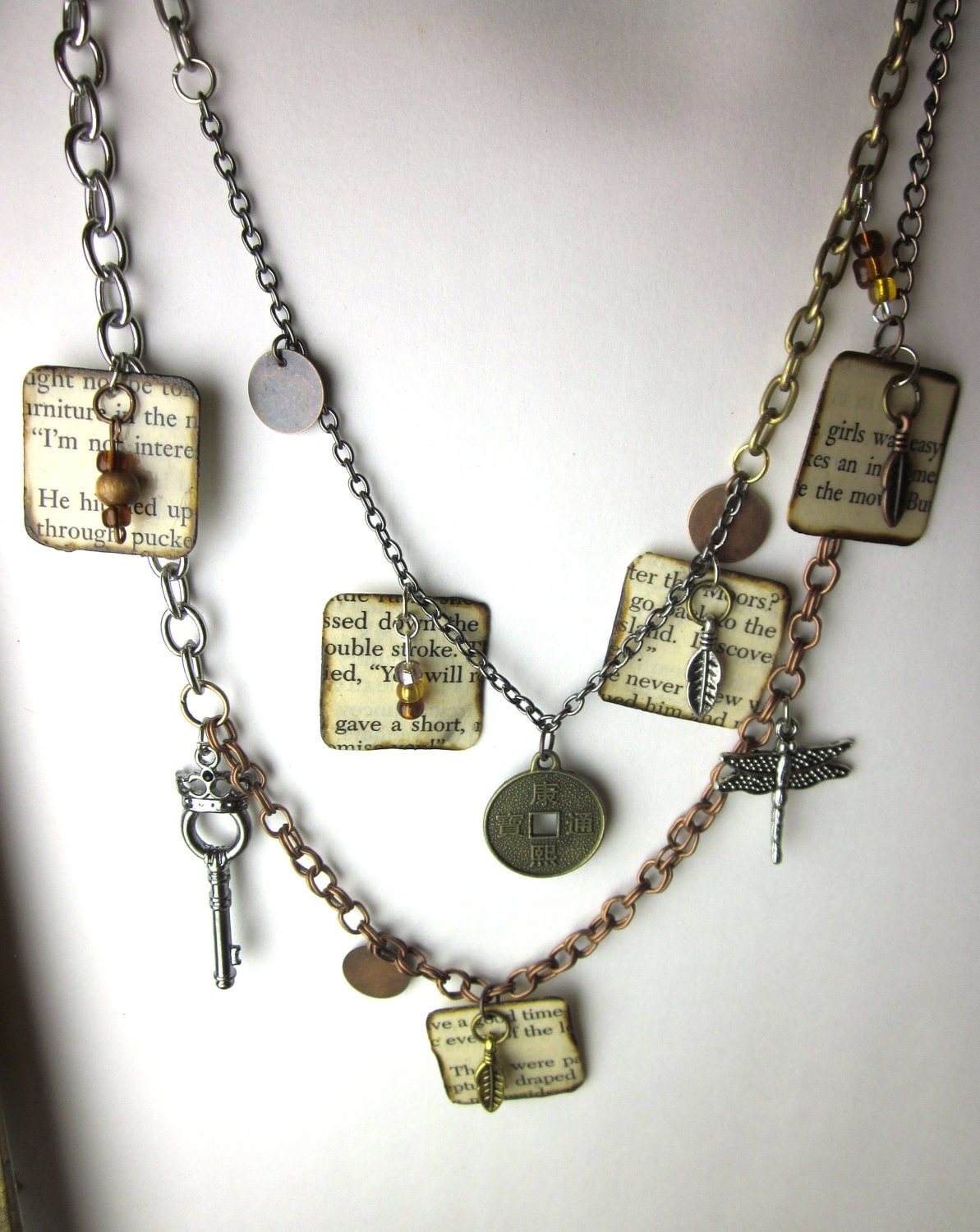 book page charm necklace literary necklace book jewelry