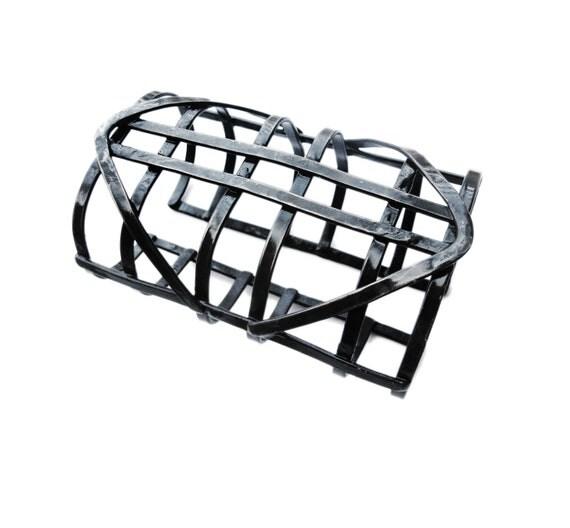 Copper Cuff bracelet - Warrior cage cuff - Iron Maiden - Skeletal Jewelry - Automaton inspired- handmade in Austin, Tx
