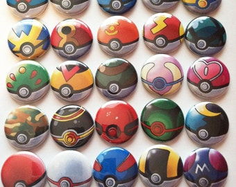 25 Pokeball pins