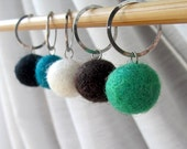 LAST SET - Forest Colors - The Felt Collection - Five Handmade Stitch Markers - 12.0 mm (17 US) - Limited Edition