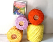 Clarks Big Ball of Colorful Crochet thread  for Tatting and crafting