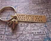 The Melanie Key Chain - Brass and Gold Plate Fortune Cookie Key Chain