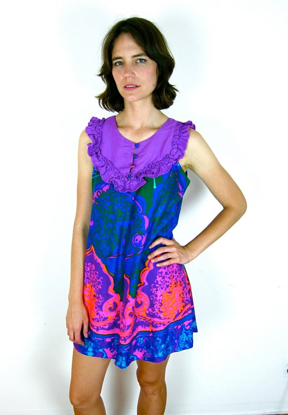 Amazing Brightly Colored 60's Sun Dress