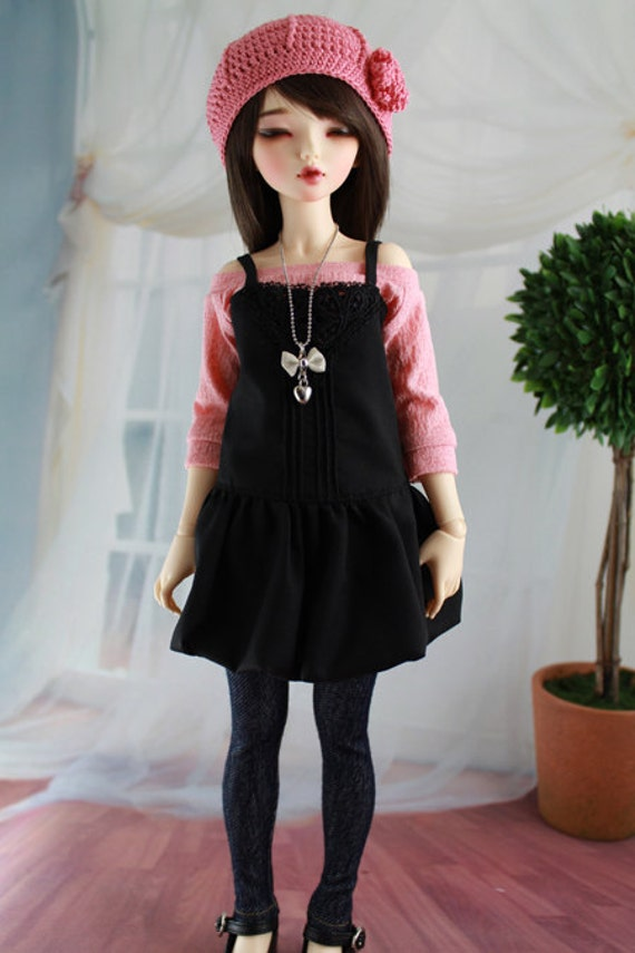 5 Piece Shirt and Jeans Outfit for Minifee BJD, 1/4 Dollfie, MSD