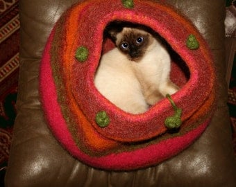 made to order cat bed cave