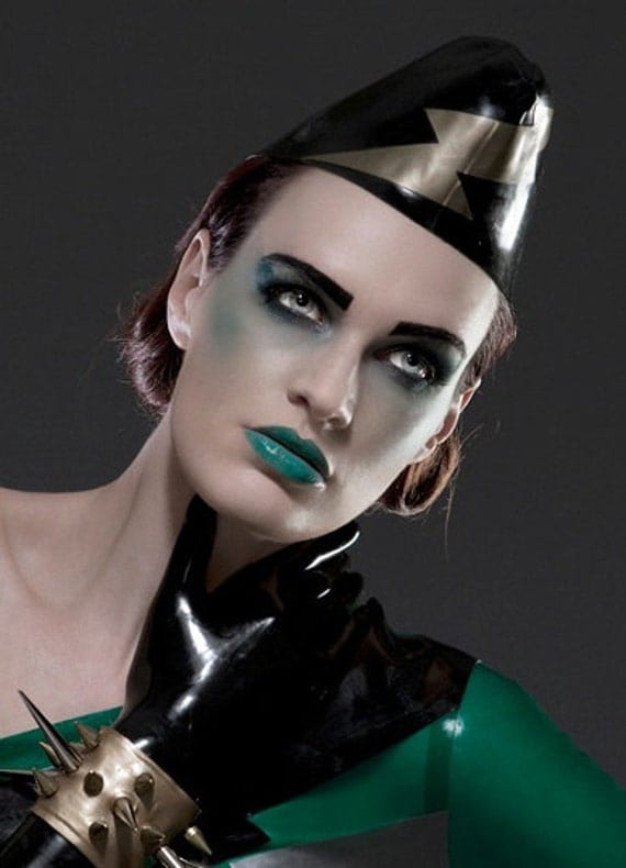 Latex Rubber Army Side Cap Hat