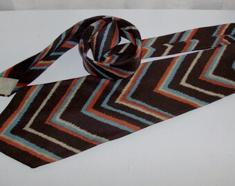 Extra Wide Bold Zigzag Carre Designer Tie for Lord and Taylor