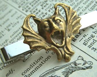 Gargoyle Tie Clip Vampire Bat Tie Bar Gothic Victorian Tie Clip Steampunk Tie Clip Men's Tie Clip