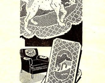 Dog Filet Chair Set Crochet Pattern 723136