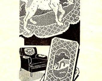 Dog Filet Chair Set Crochet Pattern 723136