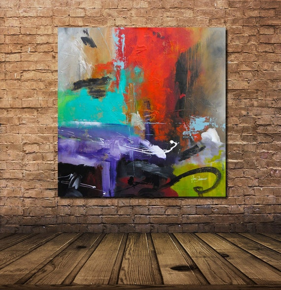 Items Similar To Large Original Modern Abstract Painting