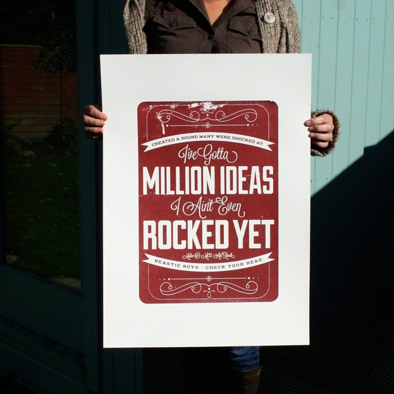 A Million Ideas. A limited edition hand pulled print (Second Edition) EXTREMELY RARE!