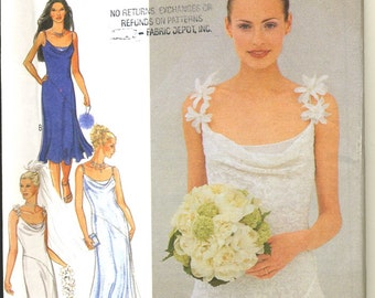 Style 1058 UNCUT  Simple Elegance  Bridal Slip Dress Sewing Pattern Size 8-18
