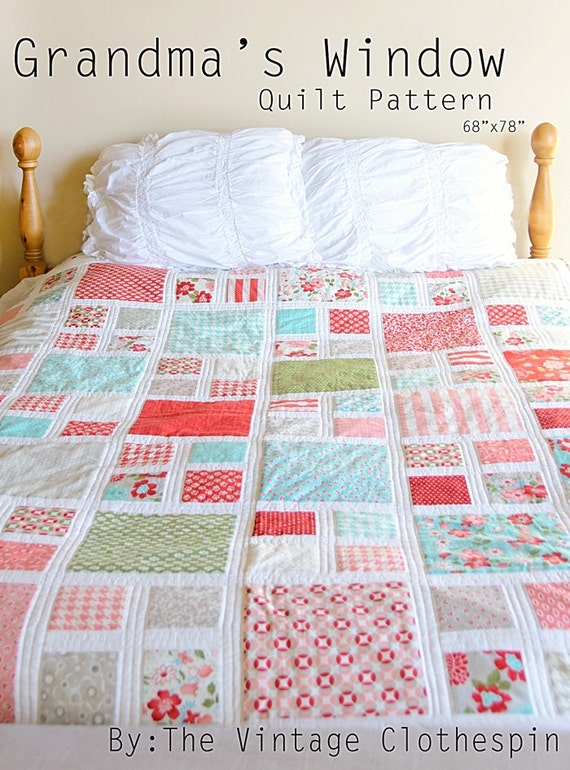 Grandma's Window Quilt Pattern / PDF : through the window quilt pattern - Adamdwight.com