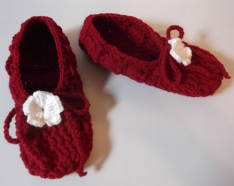 Cozy Slippers with Detachable Dainty Flowers  - Womens -  Made To Order
