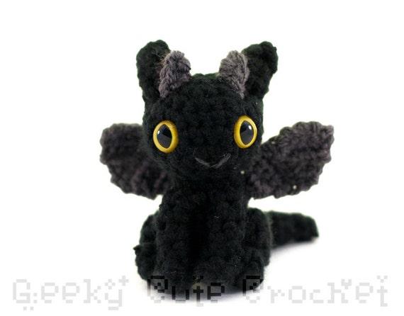 Dragon Amigurumi - Black Gray