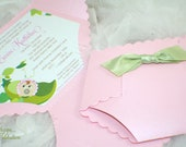 Diaper Baby Shower Invitation - Pink Pea in the Pod