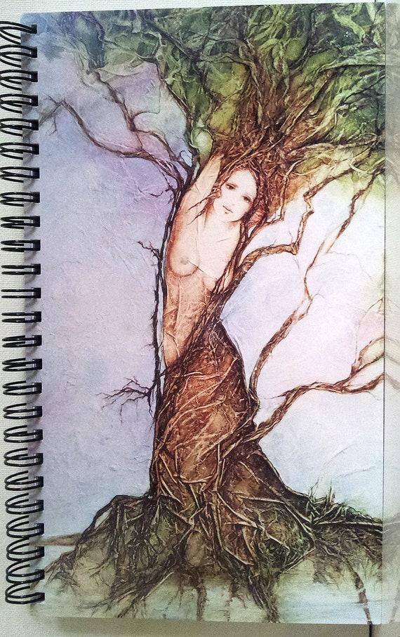 Mythical Goddess DAPHNE Lynne French Art Journal Diary 80 Pgs.Spiral Bound