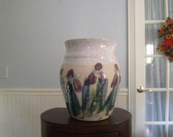 Signed Iris Vase