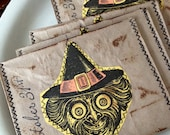Halloween - Witch - Party Pockets - Envelopes - October 31 - Scrapbooking