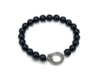 Casual Layering Obsidian Bead Bracelet 7mm, 8mm