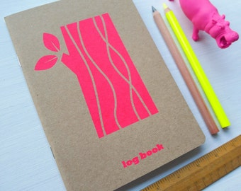 neon logpile note book