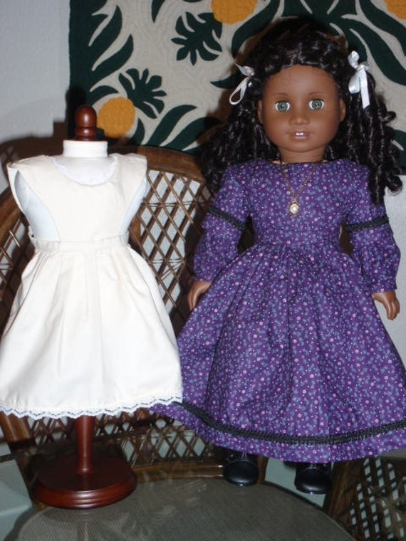 Mid 1800s Civil War Era Dress Apron for American Girl Cecile Marie Grace Addy 18 inch doll