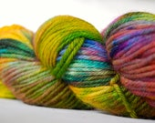 Hand-dyed Wool Yarn in Sólya - Hand-Painted - OOAK - Worsted Weight - 155 yards